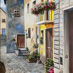 europe, 24 x 36 inch, priyanka dutt,cityscape paintings,paintings for living room,canvas,acrylic color,24x36inch,GAL08794219