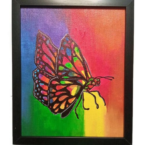 dkartistry multicolor butterfly wings acrylic painting 8x10inch canvas home/office decor, 8 x 10 inch, divyakanth s,8x10inch,canvas,paintings,abstract paintings,wildlife paintings,modern art paintings,nature paintings | scenery paintings,art deco paintings,paintings for living room,paintings for bedroom,paintings for office,paintings for living room,paintings for bedroom,paintings for office,acrylic color,GAL03000942190