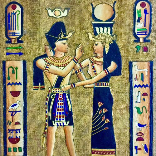 egyptian gods, 18 x 24 inch, priyanka dutt,figurative paintings,paintings for living room,ply board,ceramic work,18x24inch,GAL08794220