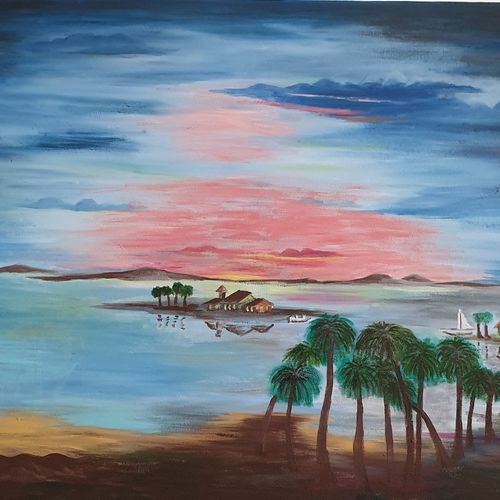 serenity, 36 x 24 inch, khushwinder singh,36x24inch,canvas,paintings,landscape paintings,nature paintings   scenery paintings,paintings for dining room,paintings for living room,paintings for bedroom,paintings for office,paintings for kids room,paintings for hotel,paintings for school,paintings for hospital,acrylic color,oil color,GAL02999642222