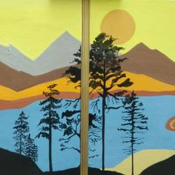 lake placid, 24 x 18 inch, shinam bedi,24x18inch,canvas,paintings,landscape paintings,modern art paintings,conceptual paintings,nature paintings | scenery paintings,paintings for dining room,paintings for living room,paintings for bedroom,paintings for office,paintings for hotel,paintings for hospital,acrylic color,GAL01863242249