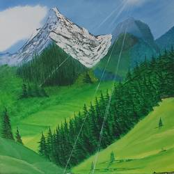 field behind mountanin, 29 x 36 inch, jawahar govindan,29x36inch,canvas,paintings,landscape paintings,paintings for dining room,paintings for living room,paintings for bedroom,paintings for office,paintings for hotel,oil color,GAL02997342253