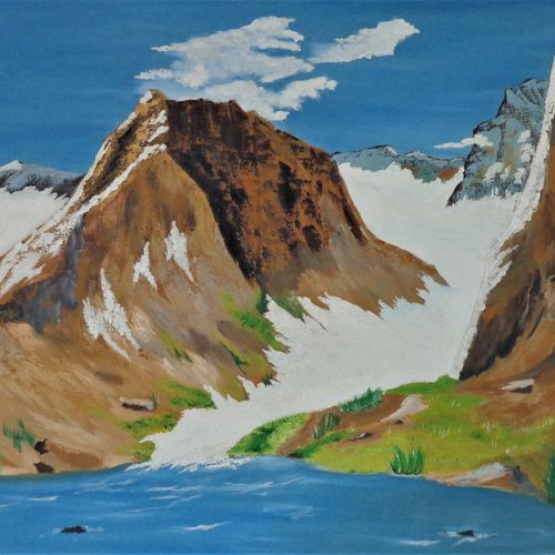 mountain , 30 x 24 inch, jawahar govindan,30x24inch,canvas,paintings,landscape paintings,nature paintings | scenery paintings,paintings for dining room,paintings for living room,paintings for bedroom,paintings for office,paintings for hotel,oil color,GAL02997342255