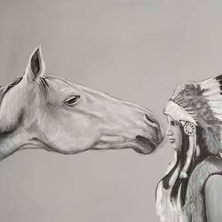 horse painting- black and white , 30 x 24 inch, indiarts india,30x24inch,canvas,paintings,animal paintings,horse paintings,paintings for dining room,paintings for living room,paintings for bedroom,paintings for kids room,paintings for hotel,paintings for kitchen,acrylic color,GAL02992042322