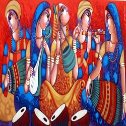 bengali tune-246, 72 x 36 inch, sekhar  roy,72x36inch,canvas,figurative paintings,paintings for living room,acrylic color,GAL02630942324