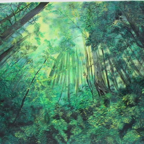 evergreen forests , 40 x 27 inch, payal prakash ,40x27inch,canvas,paintings,landscape paintings,nature paintings | scenery paintings,paintings for dining room,paintings for living room,paintings for bedroom,paintings for office,paintings for bathroom,paintings for kids room,paintings for hotel,paintings for kitchen,paintings for school,paintings for hospital,acrylic color,GAL03006342341