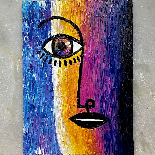 vibrant profile, 6 x 8 inch, bhuvi rao,6x8inch,canvas,paintings,abstract paintings,modern art paintings,abstract expressionism paintings,expressionism paintings,impressionist paintings,minimalist paintings,street art,contemporary paintings,paintings for dining room,paintings for living room,paintings for office,paintings for hotel,paintings for school,paintings for dining room,paintings for living room,paintings for office,paintings for hotel,acrylic color,GAL03016442343