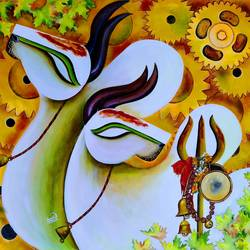 rishabhnath (p-4), 32 x 34 inch, susmita mandal,32x34inch,canvas,religious paintings,paintings for living room,paintings for office,paintings for hotel,paintings for living room,paintings for office,paintings for hotel,acrylic color,GAL01940542351