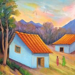 landscape, 19 x 20 inch, a.b.  kaser,19x20inch,canvas,paintings,landscape paintings,nature paintings | scenery paintings,paintings for dining room,paintings for living room,paintings for bedroom,paintings for office,paintings for hotel,paintings for school,paintings for hospital,acrylic color,GAL063642394
