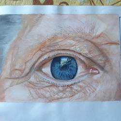 deep eye, 6 x 5 inch, dilprit ahuja,6x5inch,drawing paper,portrait paintings,portraiture,watercolor,GAL03019842408