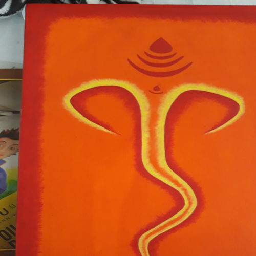 morya, 12 x 18 inch, dilprit ahuja,12x18inch,canvas,paintings,religious paintings,ganesha paintings | lord ganesh paintings,paintings for living room,acrylic color,GAL03019842409