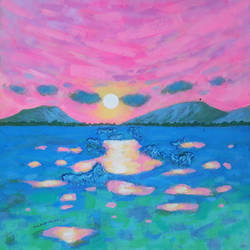 pink sky and sunrise (landscape), 18 x 18 inch, sandeep rawal ,18x18inch,canvas,paintings,abstract paintings,flower paintings,landscape paintings,modern art paintings,nature paintings | scenery paintings,contemporary paintings,water fountain paintings,paintings for dining room,paintings for living room,paintings for bedroom,paintings for office,paintings for bathroom,paintings for kids room,paintings for hotel,paintings for kitchen,paintings for school,paintings for hospital,acrylic color,GAL0251142423