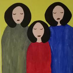 happiness , 12 x 18 inch, pallavi barua,12x18inch,canvas,paintings,expressionism paintings,paintings for bedroom,acrylic color,GAL03021342426