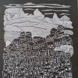windows, 12 x 18 inch, pallavi barua,12x18inch,canvas board,paintings,cityscape paintings,paintings for office,pen color,GAL03021342428