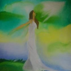 freedom, 22 x 32 inch, srav anthi,figurative paintings,paintings for bedroom,canvas,fabric,22x32inch,GAL015174243