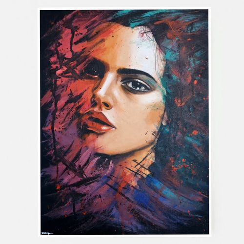 dreamer, 12 x 16 inch, suma sirisha,12x16inch,canvas,abstract paintings,wildlife paintings,figurative paintings,flower paintings,landscape paintings,portrait paintings,nature paintings | scenery paintings,abstract expressionism paintings,photorealism paintings,photorealism,realism paintings,animal paintings,realistic paintings,paintings for dining room,paintings for living room,paintings for bedroom,paintings for kids room,paintings for hotel,paintings for school,paintings for dining room,paintings for living room,paintings for bedroom,paintings for kids room,paintings for hotel,paintings for school,acrylic color,mixed media,oil color,GAL03021542430