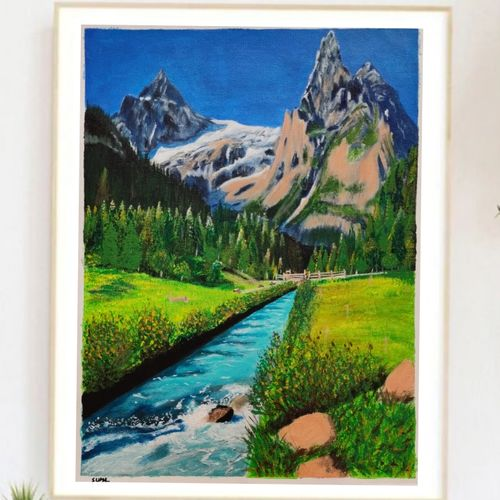 nature, 12 x 16 inch, suma sirisha,12x16inch,canvas,landscape paintings,nature paintings | scenery paintings,photorealism paintings,paintings for dining room,paintings for living room,paintings for bedroom,paintings for office,paintings for hotel,paintings for hospital,paintings for dining room,paintings for living room,paintings for bedroom,paintings for office,paintings for hotel,paintings for hospital,acrylic color,GAL03021542437