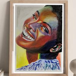 happy soul, 8 x 12 inch, suma sirisha,8x12inch,drawing paper,paintings,abstract paintings,figurative paintings,portrait paintings,photorealism,paintings for living room,paintings for office,paintings for hotel,acrylic color,GAL03021542439