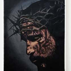 redeemer, 12 x 16 inch, suma sirisha,12x16inch,canvas,paintings,religious paintings,illustration paintings,paintings for living room,paintings for bedroom,paintings for office,acrylic color,GAL03021542440