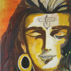 lord shiva, 10 x 12 inch, manjula mair,10x12inch,canvas board,paintings,religious paintings,acrylic color,GAL03022542446