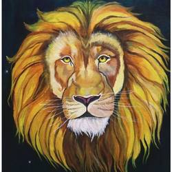 lion, 16 x 20 inch, manjula mair,16x20inch,canvas board,paintings,wildlife paintings,acrylic color,GAL03022542451