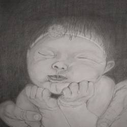 sketch of a baby, 8 x 11 inch, manjula mair,8x11inch,brustro watercolor paper,figurative drawings,graphite pencil,GAL03022542452
