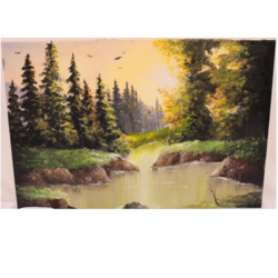 golden hour, 24 x 16 inch, shriya mehta,24x16inch,canvas,paintings,landscape paintings,nature paintings | scenery paintings,paintings for dining room,paintings for living room,paintings for bedroom,paintings for office,paintings for kids room,paintings for hotel,paintings for kitchen,paintings for school,acrylic color,GAL02919242498