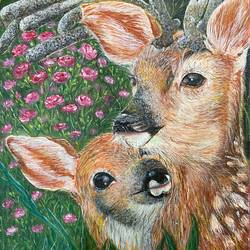 motherhood , 8 x 10 inch, poulami sen,8x10inch,canvas,paintings,wildlife paintings,acrylic color,GAL02960842507
