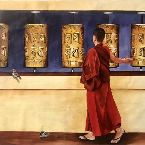 prayer to buddha , 42 x 36 inch, kangana vohra,42x36inch,canvas,buddha paintings,figurative paintings,conceptual paintings,religious paintings,portrait paintings,photorealism paintings,photorealism,realism paintings,paintings for dining room,paintings for living room,paintings for bedroom,paintings for office,paintings for hotel,paintings for school,paintings for hospital,paintings for dining room,paintings for living room,paintings for bedroom,paintings for office,paintings for hotel,paintings for school,paintings for hospital,acrylic color,GAL0725842509