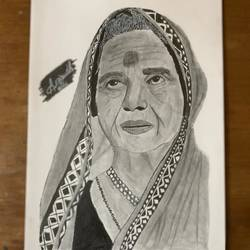 old lady portrait, 8 x 12 inch, anirudh sethi,8x12inch,ivory sheet,drawings,fine art drawings,modern drawings,photorealism drawings,portrait drawings,realism drawings,charcoal,graphite pencil,paper,GAL02942042513