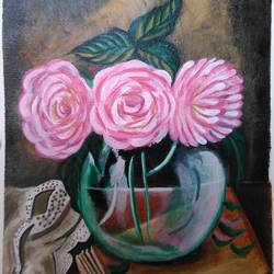 flower vase, 9 x 12 inch, amit jain,9x12inch,canvas,paintings,flower paintings,acrylic color,GAL03035242521