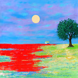 peace and greenery (landscape) - 2, 18 x 18 inch, sandeep rawal ,18x18inch,canvas,paintings,abstract paintings,flower paintings,cityscape paintings,landscape paintings,modern art paintings,nature paintings | scenery paintings,contemporary paintings,realistic paintings,water fountain paintings,paintings for dining room,paintings for living room,paintings for bedroom,paintings for office,paintings for bathroom,paintings for kids room,paintings for hotel,paintings for kitchen,paintings for school,paintings for hospital,acrylic color,GAL0251142524