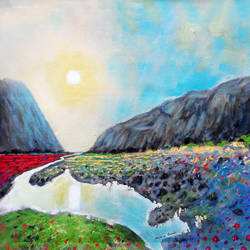 peaceful place and sunrise (landscape) , 18 x 18 inch, sandeep rawal ,18x18inch,canvas,paintings,abstract paintings,flower paintings,landscape paintings,modern art paintings,nature paintings | scenery paintings,art deco paintings,contemporary paintings,realistic paintings,water fountain paintings,paintings for dining room,paintings for living room,paintings for bedroom,paintings for office,paintings for bathroom,paintings for kids room,paintings for hotel,paintings for kitchen,paintings for school,paintings for hospital,acrylic color,GAL0251142525