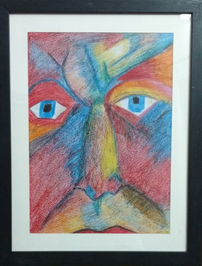 emotions of man through life, 17 x 21 inch, ayushi negi,abstract drawings,paintings for living room,drawing paper,pastel color,17x21inch,GAL014904255