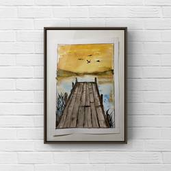 original watercolour painting of sunset/ small painting , 6 x 8 inch, deepika gautam,6x8inch,renaissance watercolor paper,paintings,cityscape paintings,landscape paintings,modern art paintings,still life paintings,nature paintings | scenery paintings,art deco paintings,photorealism,realism paintings,miniature painting.,paintings for dining room,paintings for living room,paintings for bedroom,paintings for office,paintings for kids room,paintings for hotel,paintings for kitchen,paintings for school,paintings for hospital,watercolor,paper,GAL02401042556