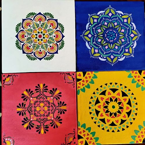colours on your wall, 8 x 8 inch, pankhoori vidya,8x8inch,canvas board,paintings,abstract paintings,folk art paintings,art deco paintings,paintings for dining room,paintings for living room,paintings for bedroom,paintings for office,acrylic color,pen color,watercolor,GAL03039342568