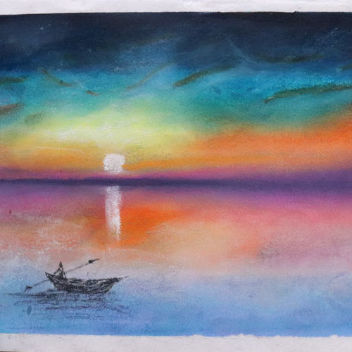sunsets are like god's paintings in the sky., 11 x 9 inch, vaibhav prabu,11x9inch,renaissance watercolor paper,landscape paintings,paintings for dining room,paintings for living room,paintings for bedroom,paintings for office,paintings for kids room,paintings for hotel,paintings for kitchen,paintings for school,paintings for hospital,paintings for dining room,paintings for living room,paintings for bedroom,paintings for office,paintings for kids room,paintings for hotel,paintings for kitchen,paintings for school,paintings for hospital,pastel color,GAL03041242582