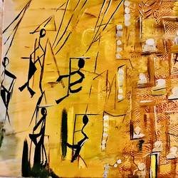 puppet show, 21 x 16 inch, poornima dayal,21x16inch,canvas,abstract paintings,acrylic color,GAL02051542614