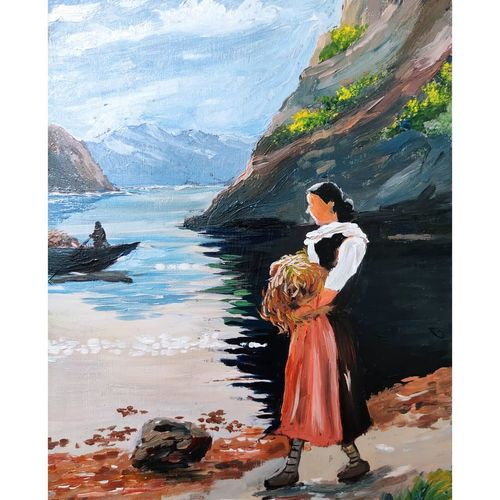 working lady, 8 x 11 inch, shankhadeep  mondal,8x11inch,thick paper,paintings,modern art paintings,conceptual paintings,nature paintings | scenery paintings,paintings for dining room,paintings for living room,paintings for bedroom,paintings for office,paintings for kids room,paintings for hotel,paintings for kitchen,paintings for school,paintings for hospital,oil color,GAL01403042667