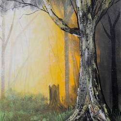 deep in the woods, 12 x 16 inch, preeti raut,12x16inch,canvas,paintings,conceptual paintings,nature paintings | scenery paintings,acrylic color,GAL03044842674