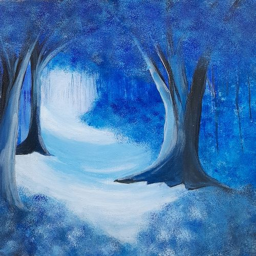 sunlight in the woods, 12 x 16 inch, preeti raut,12x16inch,canvas,paintings,conceptual paintings,nature paintings | scenery paintings,paintings for living room,paintings for bedroom,acrylic color,GAL03044842676