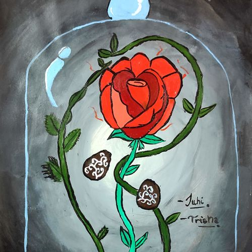 the dying rose, 12 x 17 inch, juhi iyer,12x17inch,thick paper,paintings,flower paintings,portrait paintings,paintings for dining room,paintings for living room,paintings for bedroom,paintings for office,paintings for bathroom,paintings for kids room,paintings for hotel,paintings for kitchen,paintings for school,paintings for hospital,acrylic color,GAL03017542690