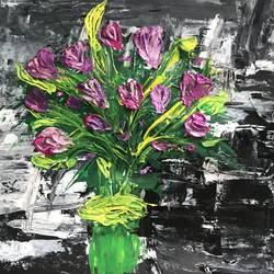 the flower bouquet, 11 x 16 inch, anchal sharma,11x16inch,thick paper,paintings,flower paintings,nature paintings   scenery paintings,paintings for dining room,paintings for living room,paintings for bedroom,paintings for office,paintings for bathroom,paintings for kids room,paintings for hotel,paintings for kitchen,paintings for school,paintings for hospital,acrylic color,GAL02841542712