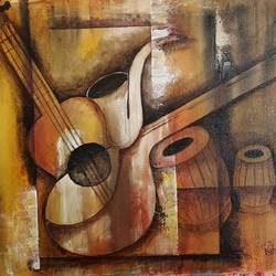musicals, 20 x 16 inch, kshipra pandit,20x16inch,canvas,paintings,abstract paintings,figurative paintings,paintings for living room,paintings for bedroom,paintings for hotel,paintings for school,acrylic color,GAL03046942746