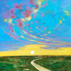 good morning with my way (landscape) -1, 18 x 18 inch, sandeep rawal ,18x18inch,canvas,paintings,abstract paintings,flower paintings,landscape paintings,nature paintings | scenery paintings,contemporary paintings,realistic paintings,paintings for dining room,paintings for living room,paintings for bedroom,paintings for office,paintings for bathroom,paintings for kids room,paintings for hotel,paintings for kitchen,paintings for school,paintings for hospital,acrylic color,GAL0251142750