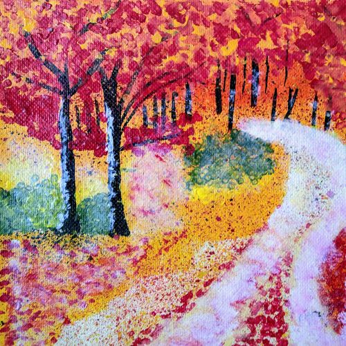 nature painting, 14 x 10 inch, srimonti dutta,14x10inch,handmade paper,paintings,landscape paintings,nature paintings | scenery paintings,paintings for dining room,paintings for living room,paintings for bedroom,paintings for office,paintings for hotel,paintings for hospital,acrylic color,GAL02833842751