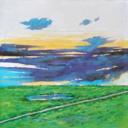 good morning with my way (landscape) -2 , 18 x 18 inch, sandeep rawal ,18x18inch,canvas,paintings,abstract paintings,flower paintings,landscape paintings,nature paintings | scenery paintings,contemporary paintings,realistic paintings,paintings for dining room,paintings for living room,paintings for bedroom,paintings for office,paintings for bathroom,paintings for kids room,paintings for hotel,paintings for kitchen,paintings for school,paintings for hospital,acrylic color,GAL0251142752
