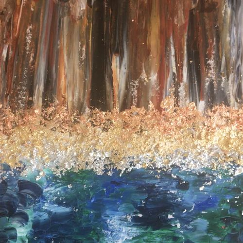 the magical woodlands , 14 x 24 inch, debapriya bhattacharya,14x24inch,canvas,paintings,abstract paintings,landscape paintings,modern art paintings,nature paintings | scenery paintings,abstract expressionism paintings,paintings for dining room,paintings for living room,paintings for bedroom,paintings for office,paintings for hotel,acrylic color,oil color,metal,paper,GAL01491342755