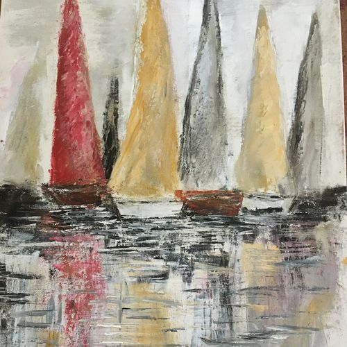 the red boat, 14 x 20 inch, debapriya bhattacharya,14x20inch,canvas,paintings,abstract paintings,modern art paintings,conceptual paintings,abstract expressionism paintings,illustration paintings,contemporary paintings,paintings for dining room,paintings for living room,paintings for bedroom,paintings for office,paintings for bathroom,paintings for kids room,paintings for hotel,paintings for kitchen,paintings for school,paintings for hospital,oil color,GAL01491342768