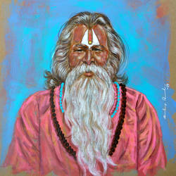 sadhu of the ghats of river ganga ( devbhumi-uttarakhand), 12 x 14 inch, sandeep rawal ,12x14inch,thick paper,paintings,religious paintings,portrait paintings,portraiture,realistic paintings,paintings for dining room,paintings for living room,paintings for office,paintings for kids room,paintings for hotel,paintings for kitchen,paintings for school,paintings for hospital,acrylic color,GAL0251142770